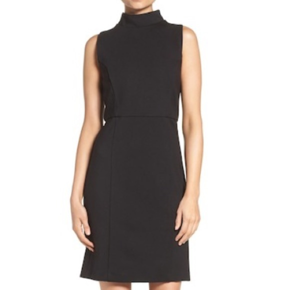 French Connection Dresses & Skirts - French Connection Lula Ponte Shift Black Dress